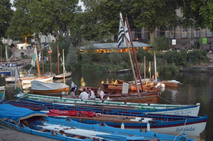 Boats on the Erdre River