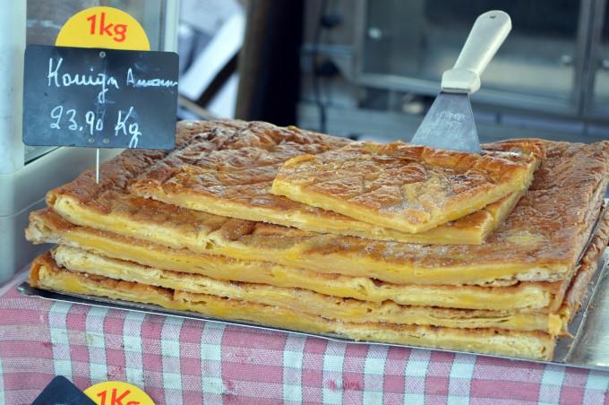 Kouign amann (Breton cake) at Tharon's Market