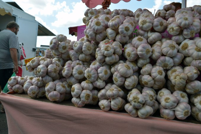 Garlic at Tharon's market