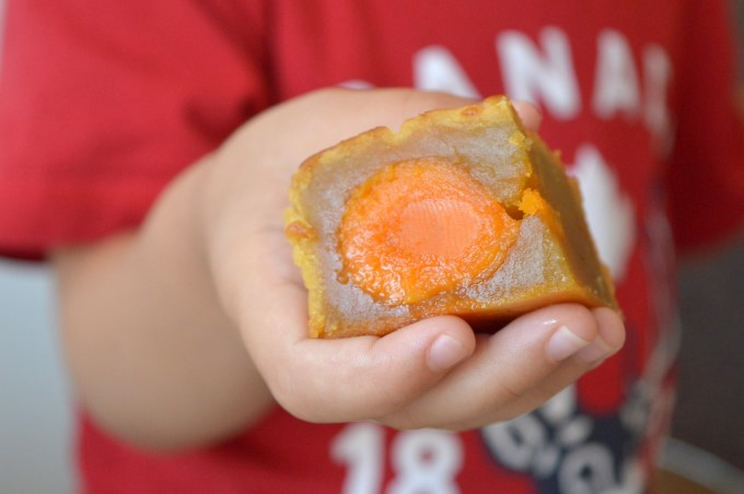 Close up of a mooncake