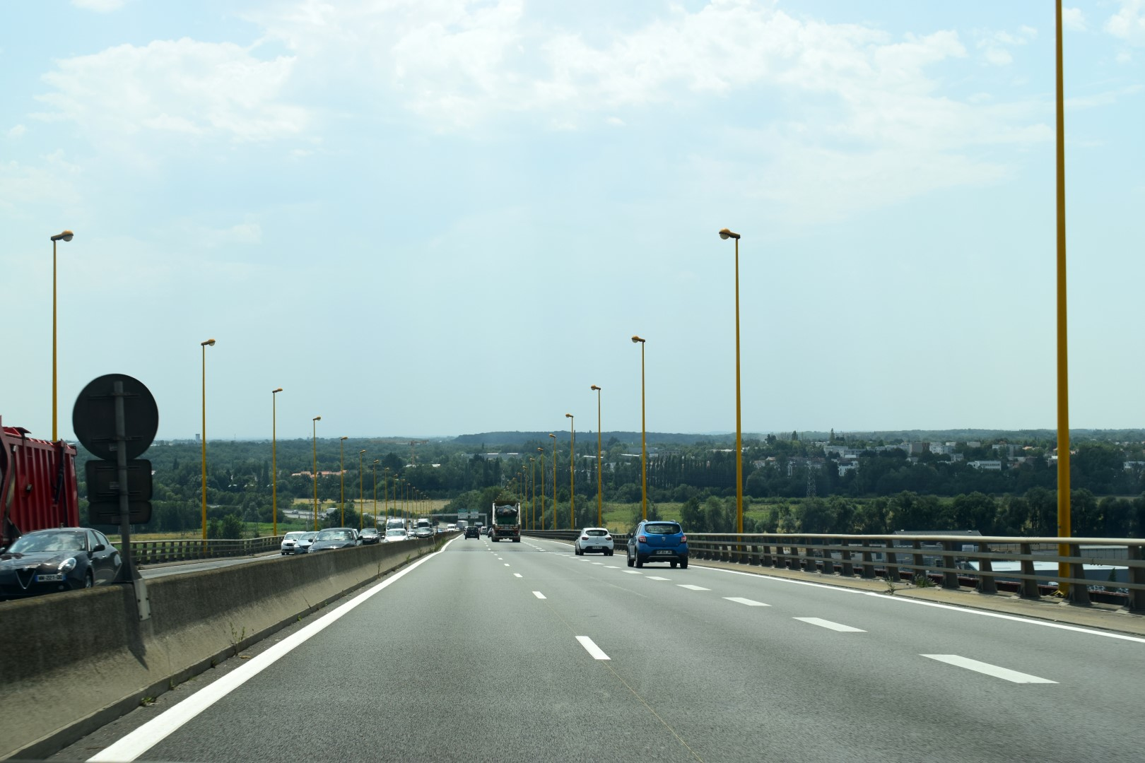 In the car to Saint-Michel