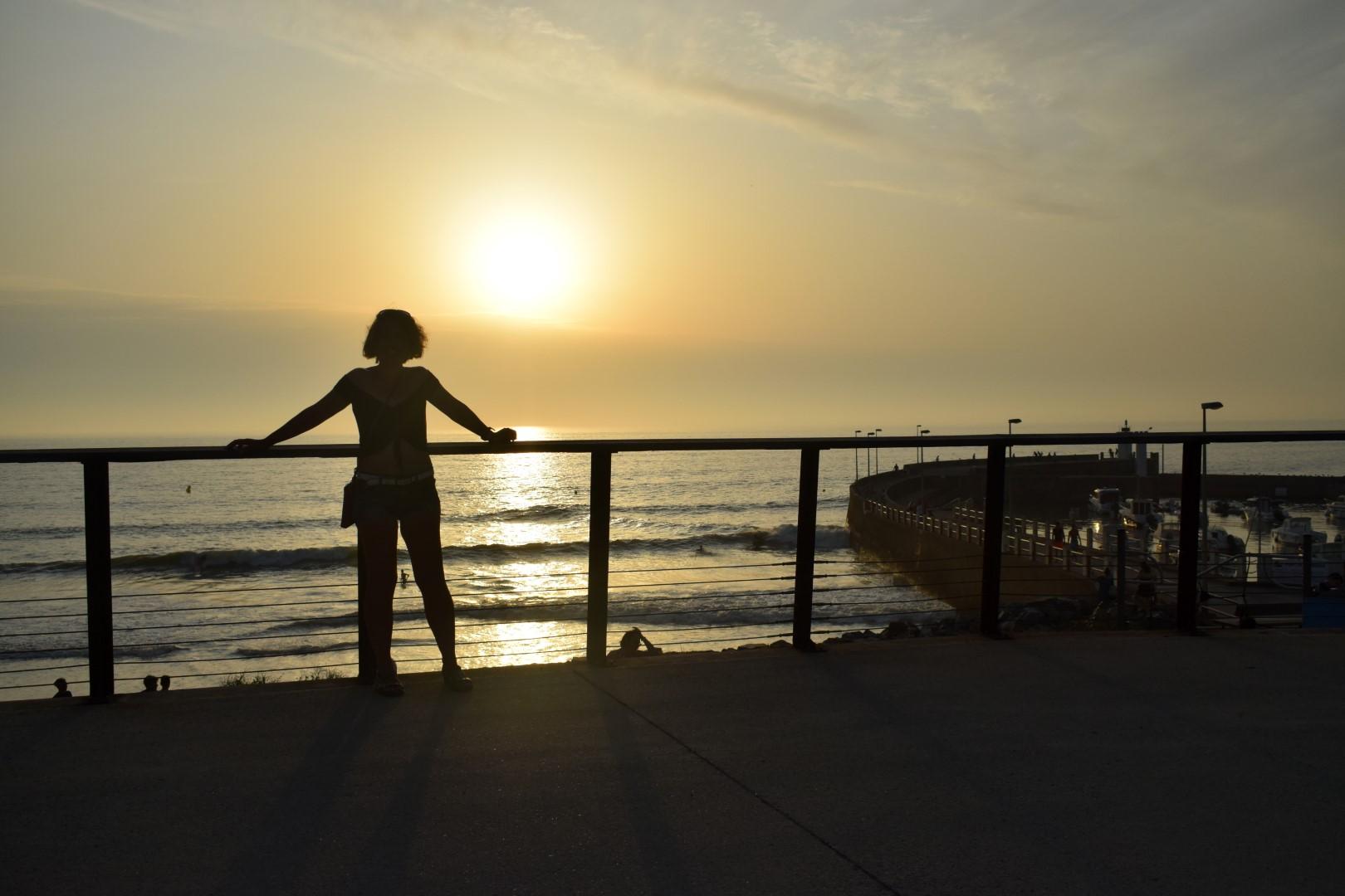Sunset on Saint-Michel's beach