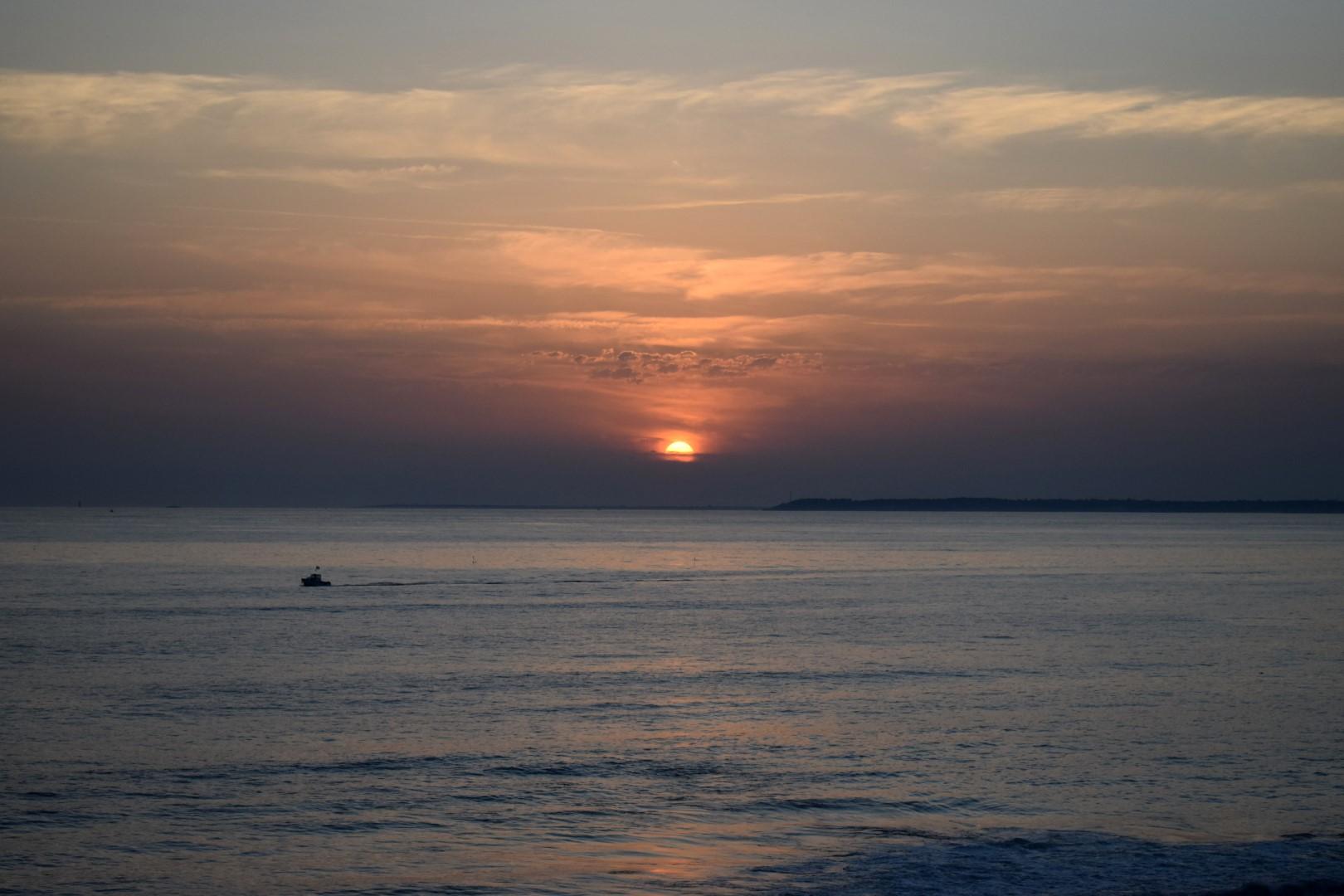Sunset on Saint-Michel beach