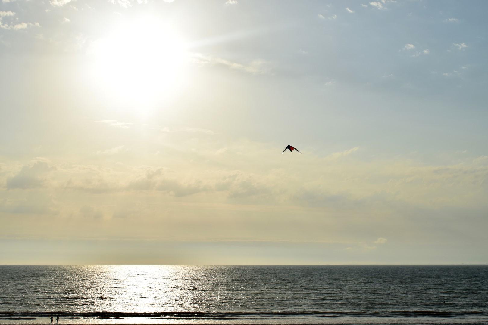 Sunset on Tharon Plage beach