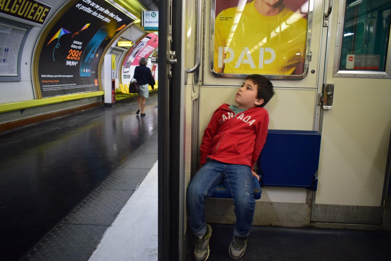 In the métro, Paris