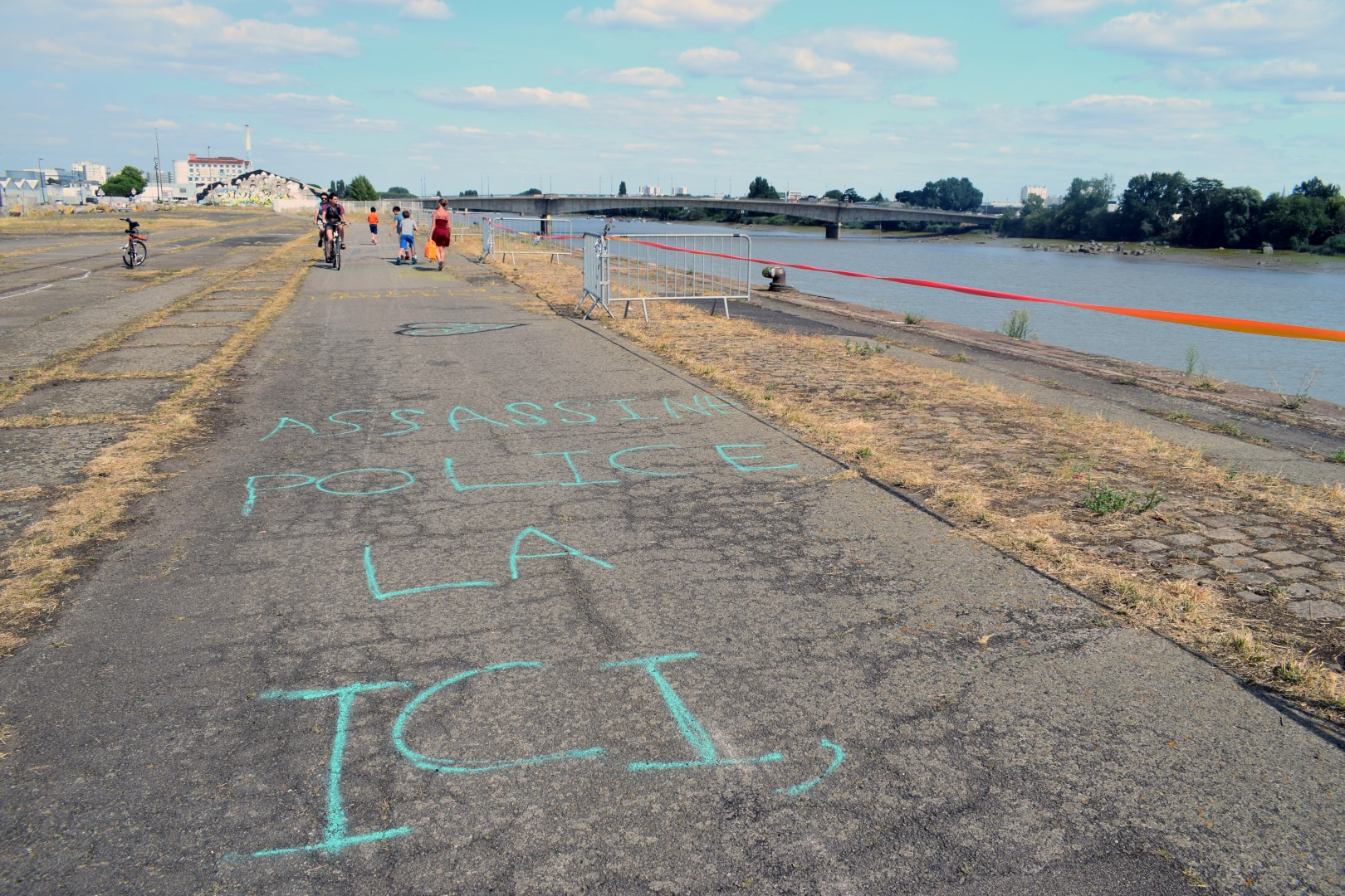 Île de Nantes, where the festival and police brutality took place on June 21