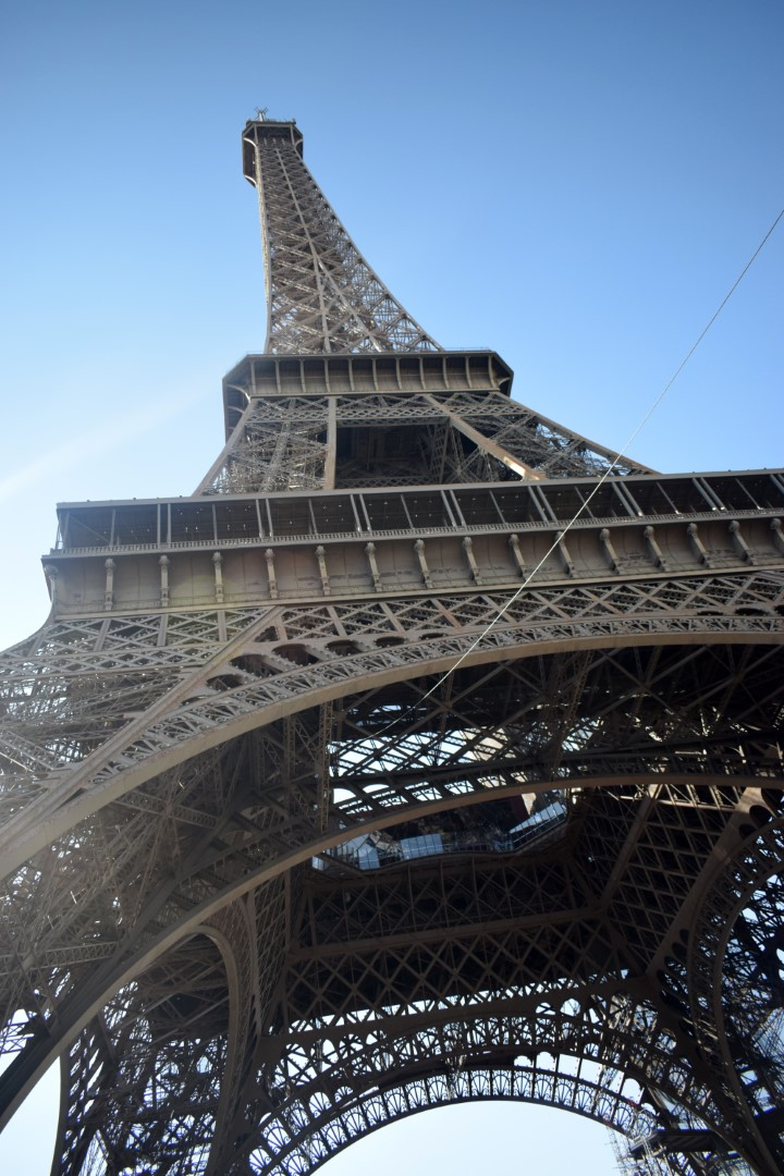 At the bottom of the Eiffel Tower