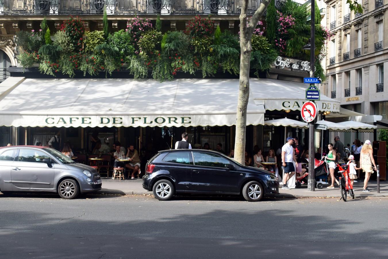 Café de Flore, Boulevard Saint-Germain, Paris