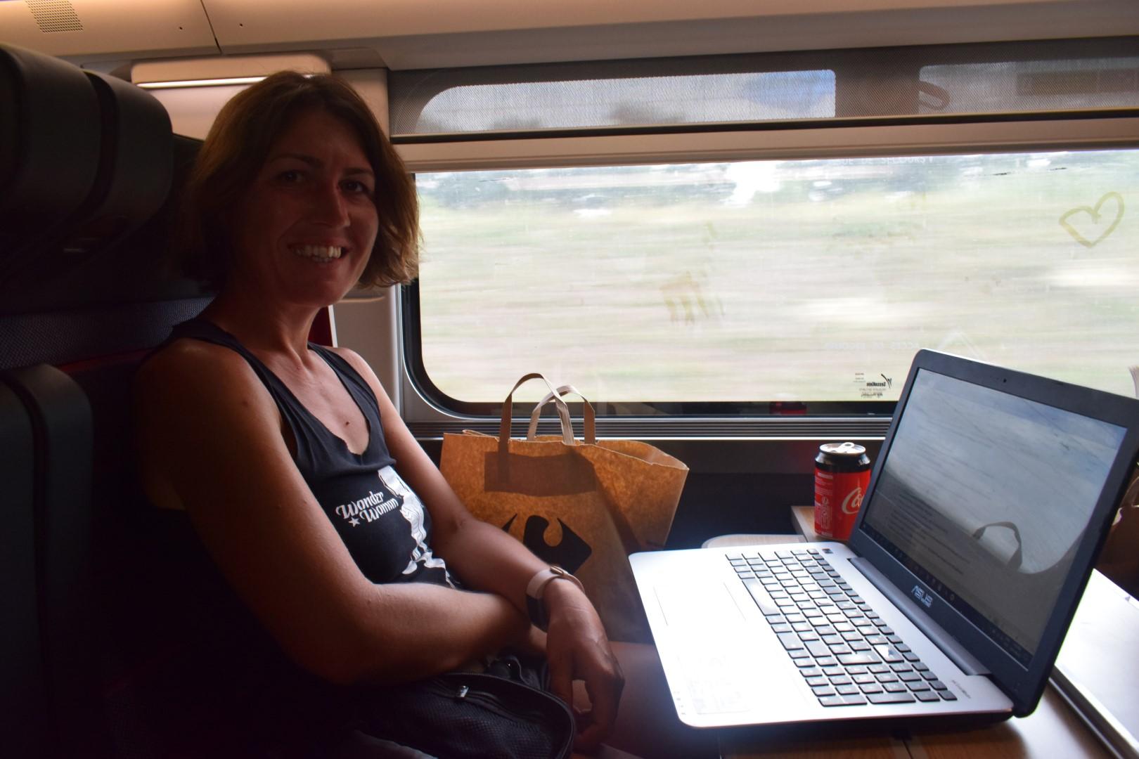 In the TGV back to Nantes (the non-OUIGO TGV...)