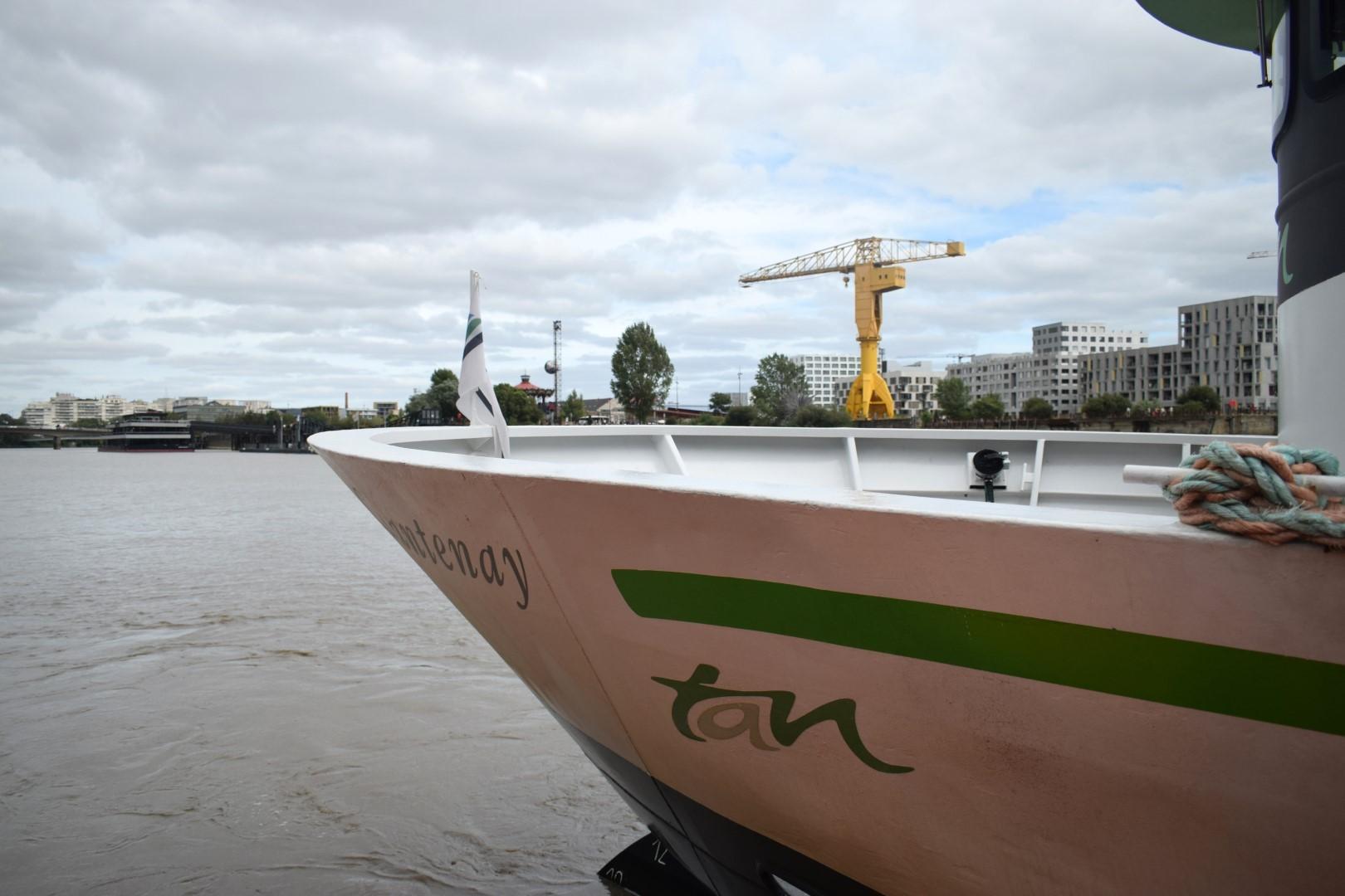 TAN shuttle boat to Trentemoult, Ponton Belem, Quai de la Fosse, Nantes