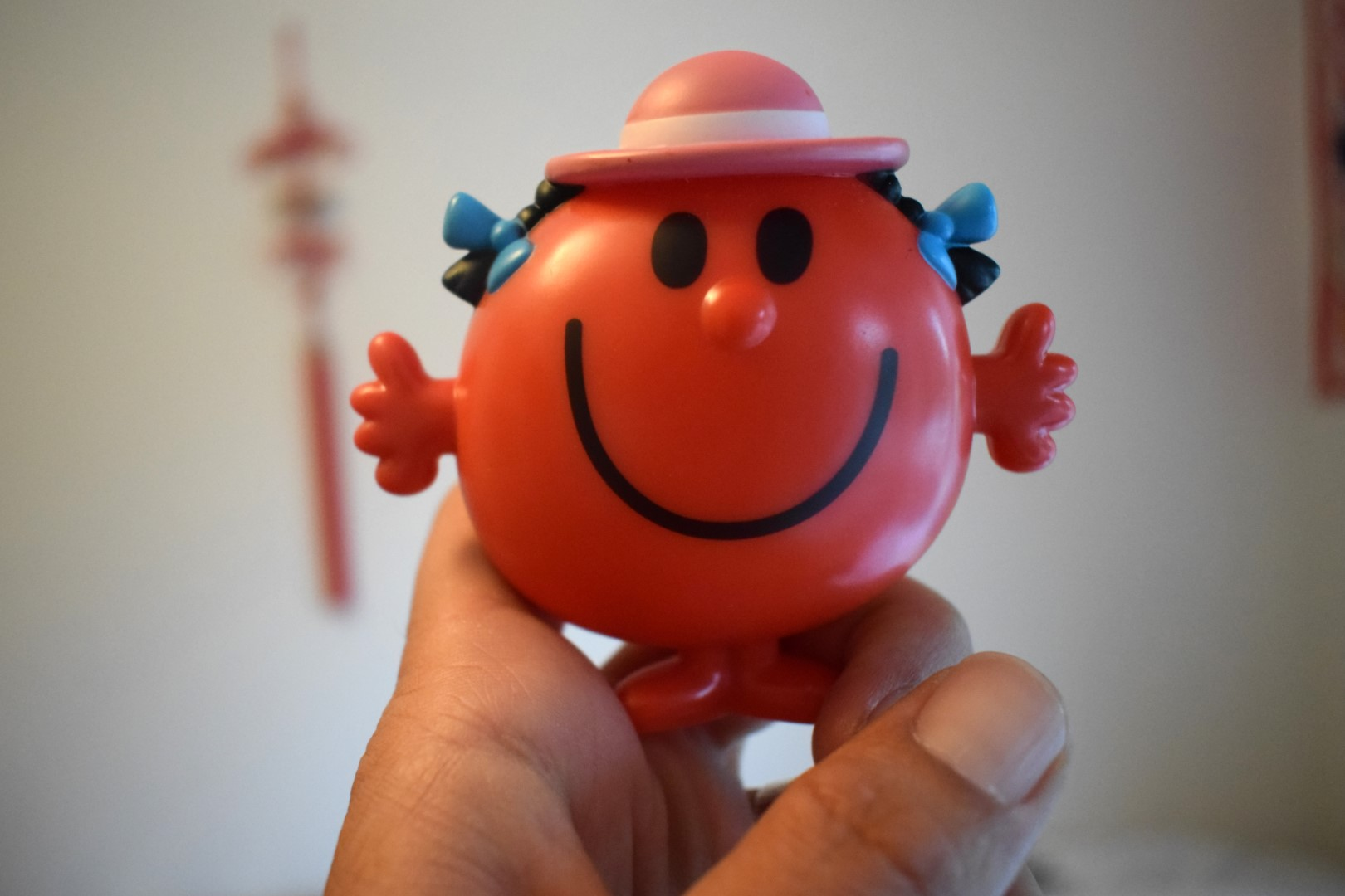 Madame joyeuse (Mrs Happy), toy from a McDonalds' Happy Meal