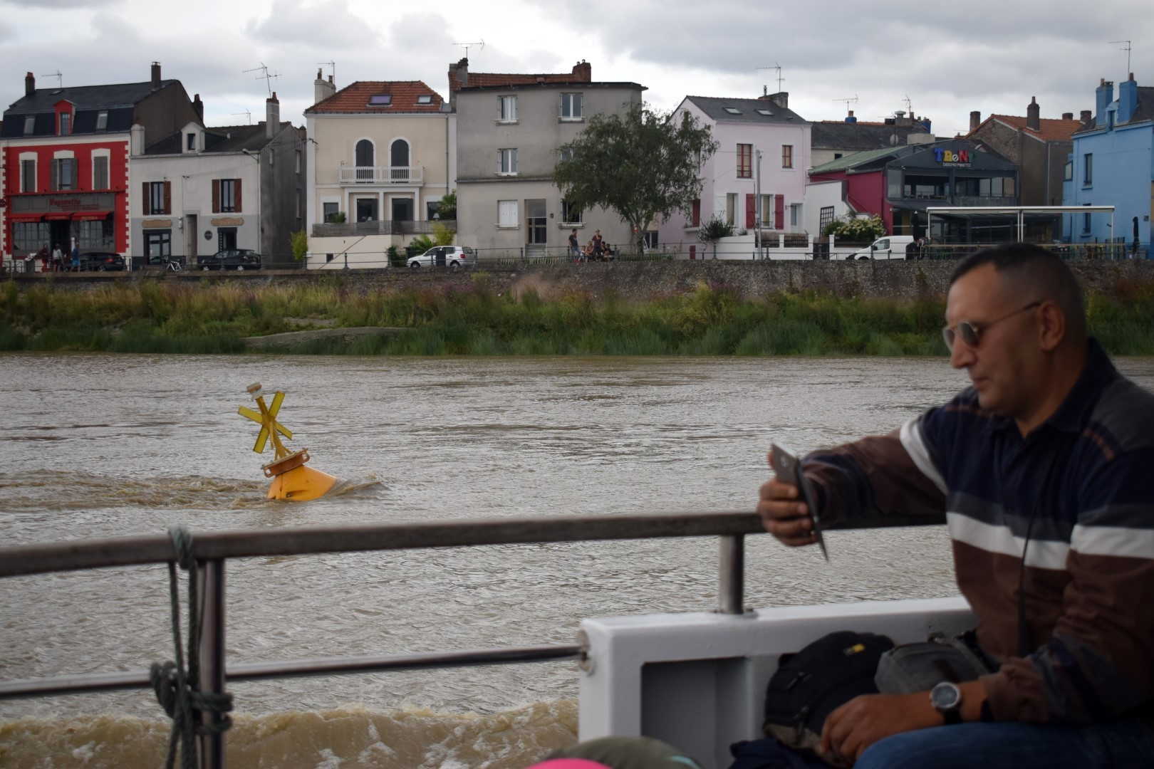 On the Loire River, between Nantes and Trentemoult