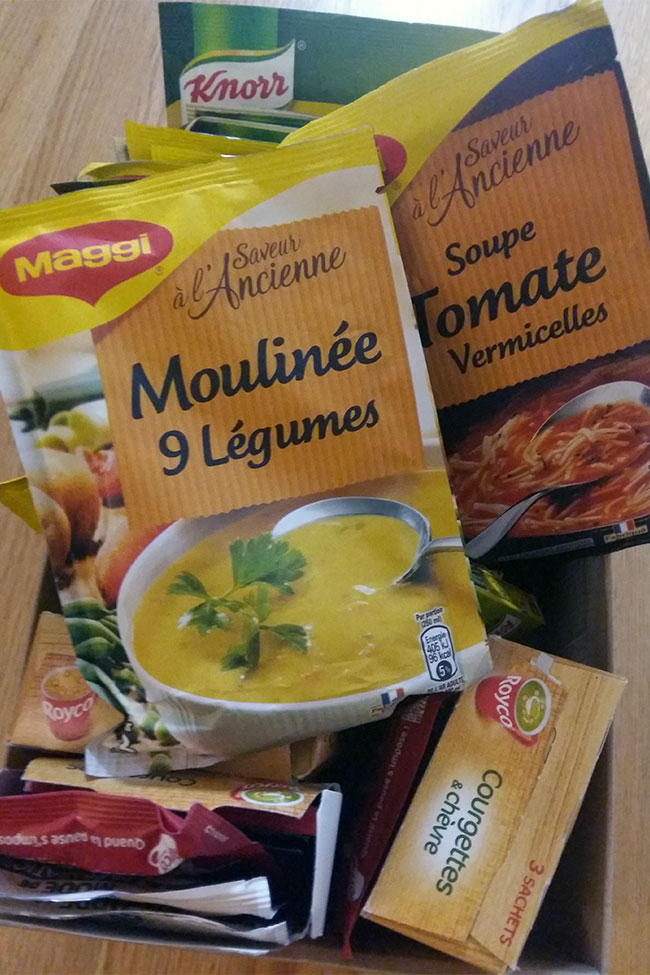 Knorr and Maggi instant soup