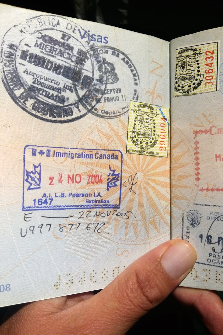 My Working Holiday Visa entry stamp