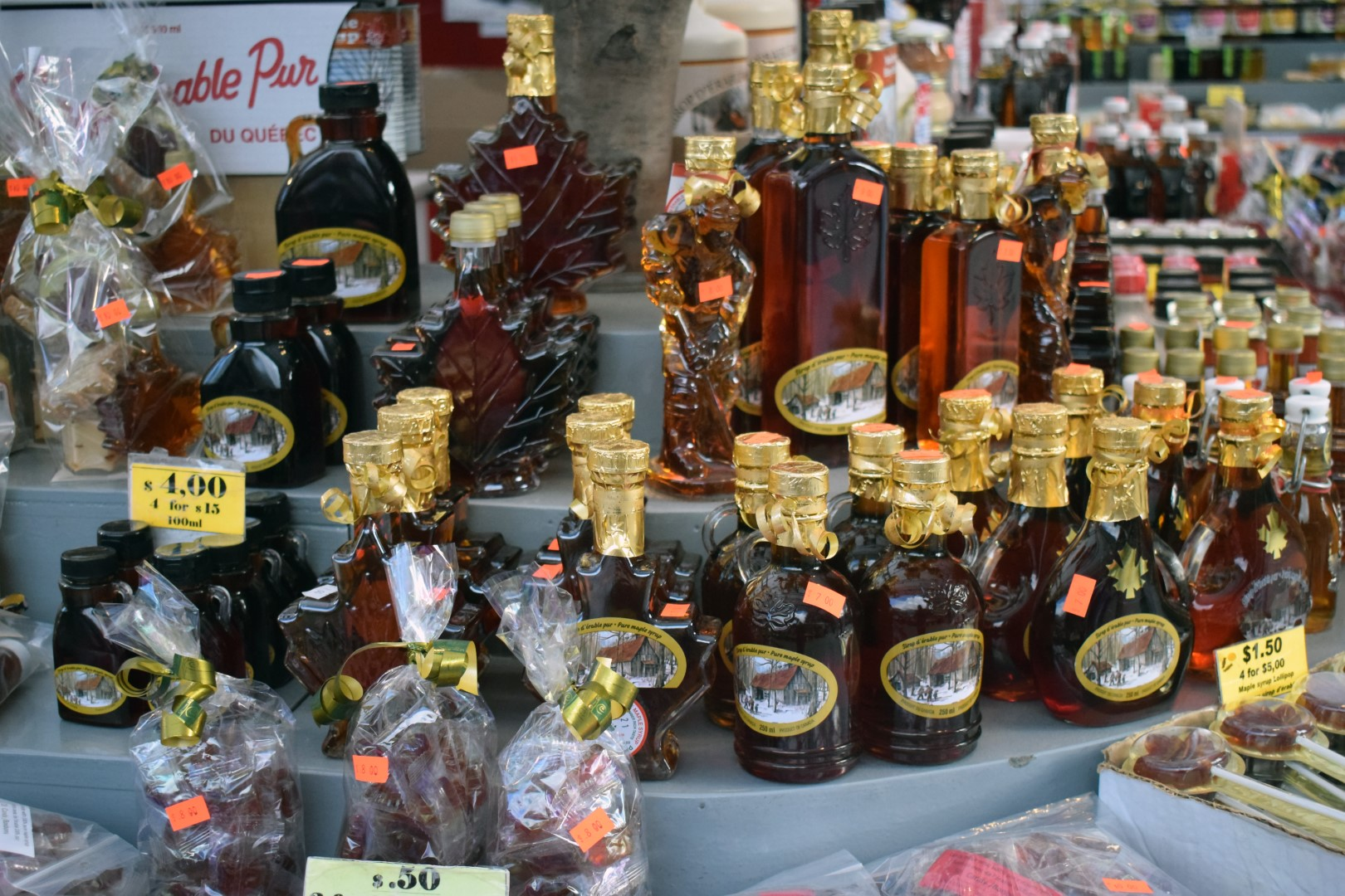 Ontario and Quebec maple syrup at the Byward Market, Ottawa