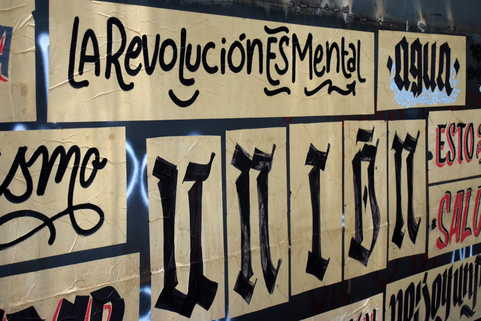 """Santa Lucía, Santiago, """"Revolution is in your head"""""""