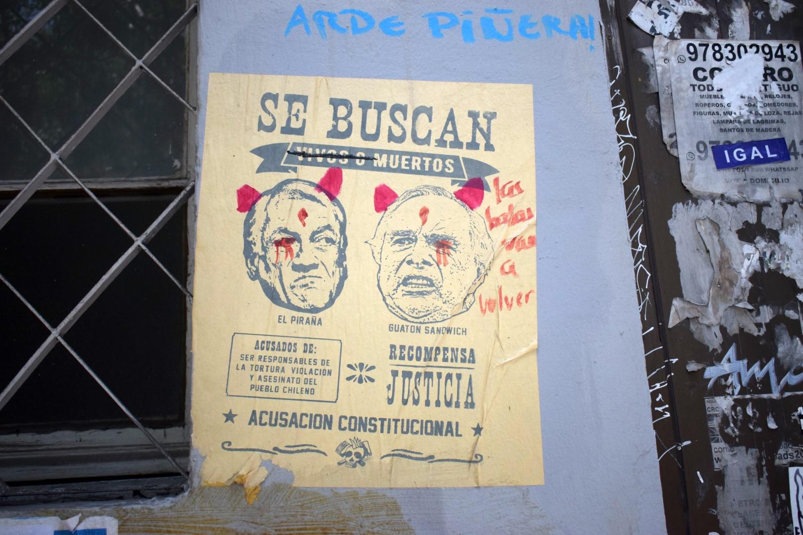 """Santa Lucía, Santiago, """"Wanted"""""""