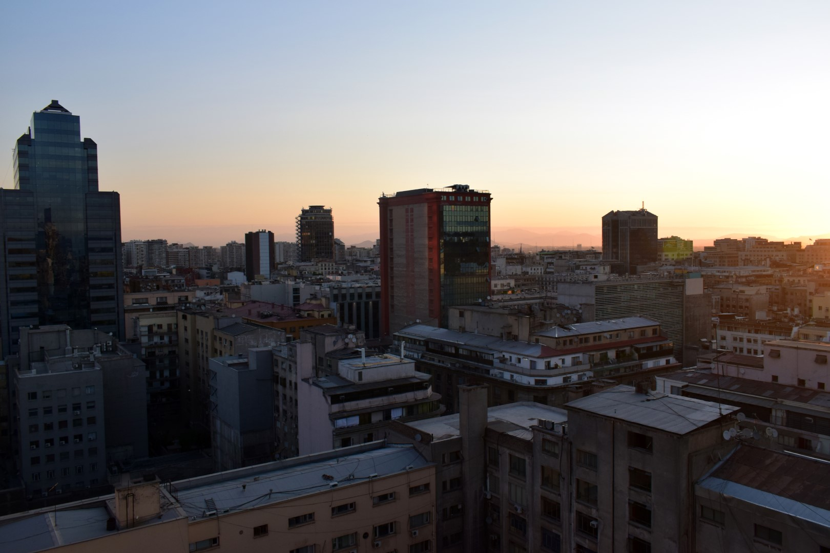 Santiago from our apartment building, Calle Monjitas