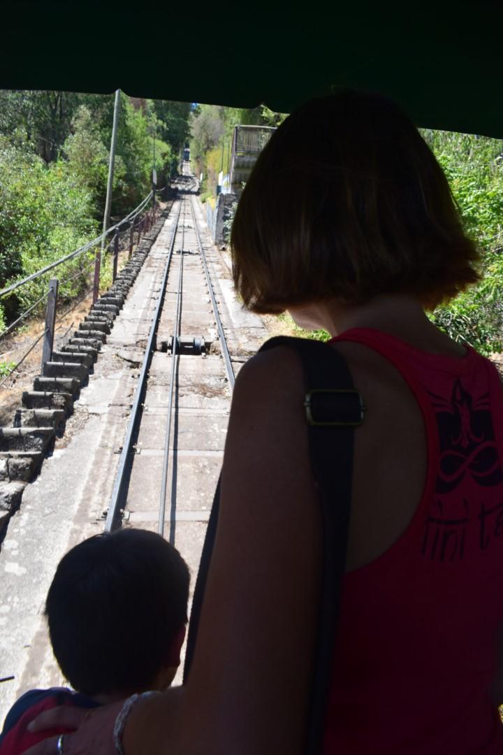 Cerro San Cristóbal, funicular to Cumbre