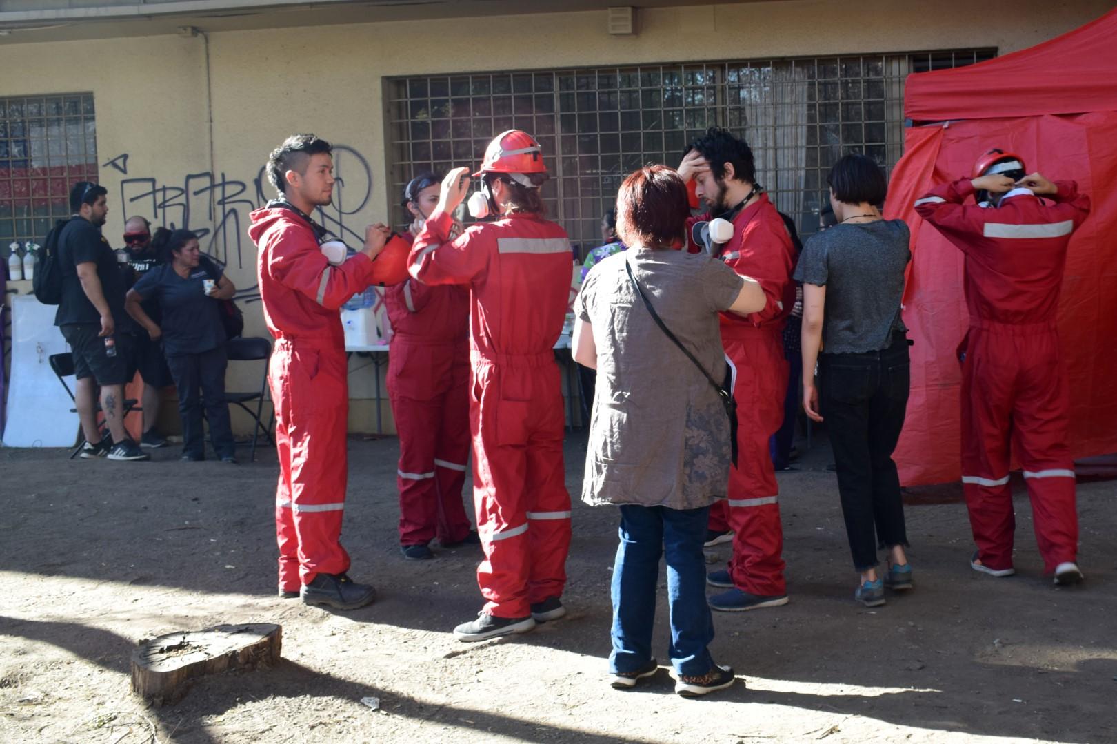 Street medics just off Avenida Providencia