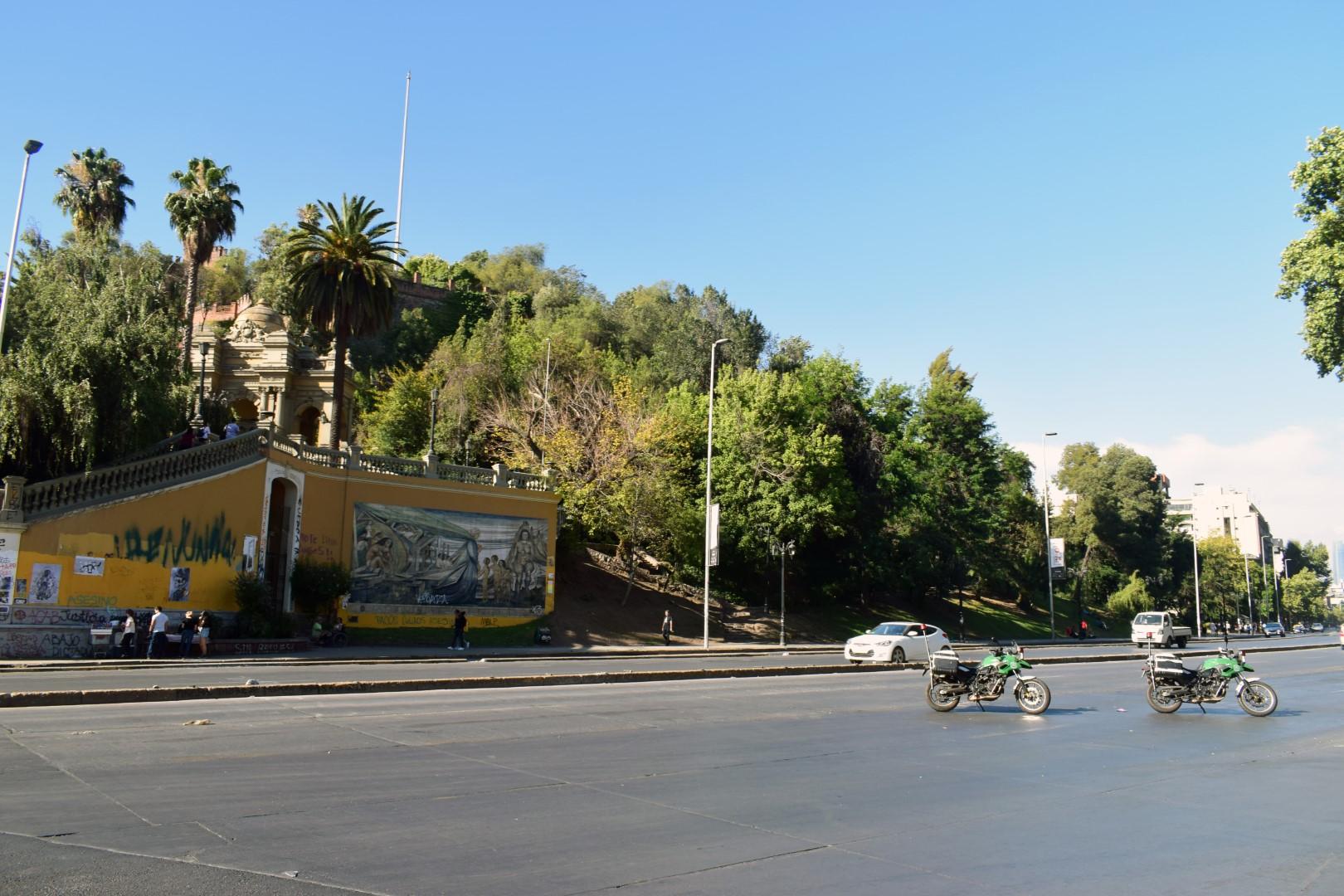 La Alameda and Cerro Santa Lucía, Santiago
