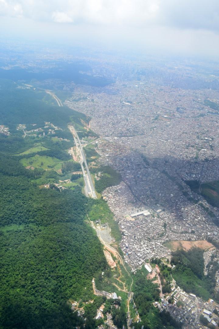 Above Guarulhos, close to São Paulo, Brazil