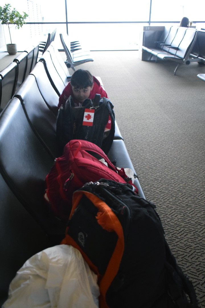 "Ottawa/Macdonald–Cartier International Airport, Mark ""watching the bags"" (very funny, Mark)"