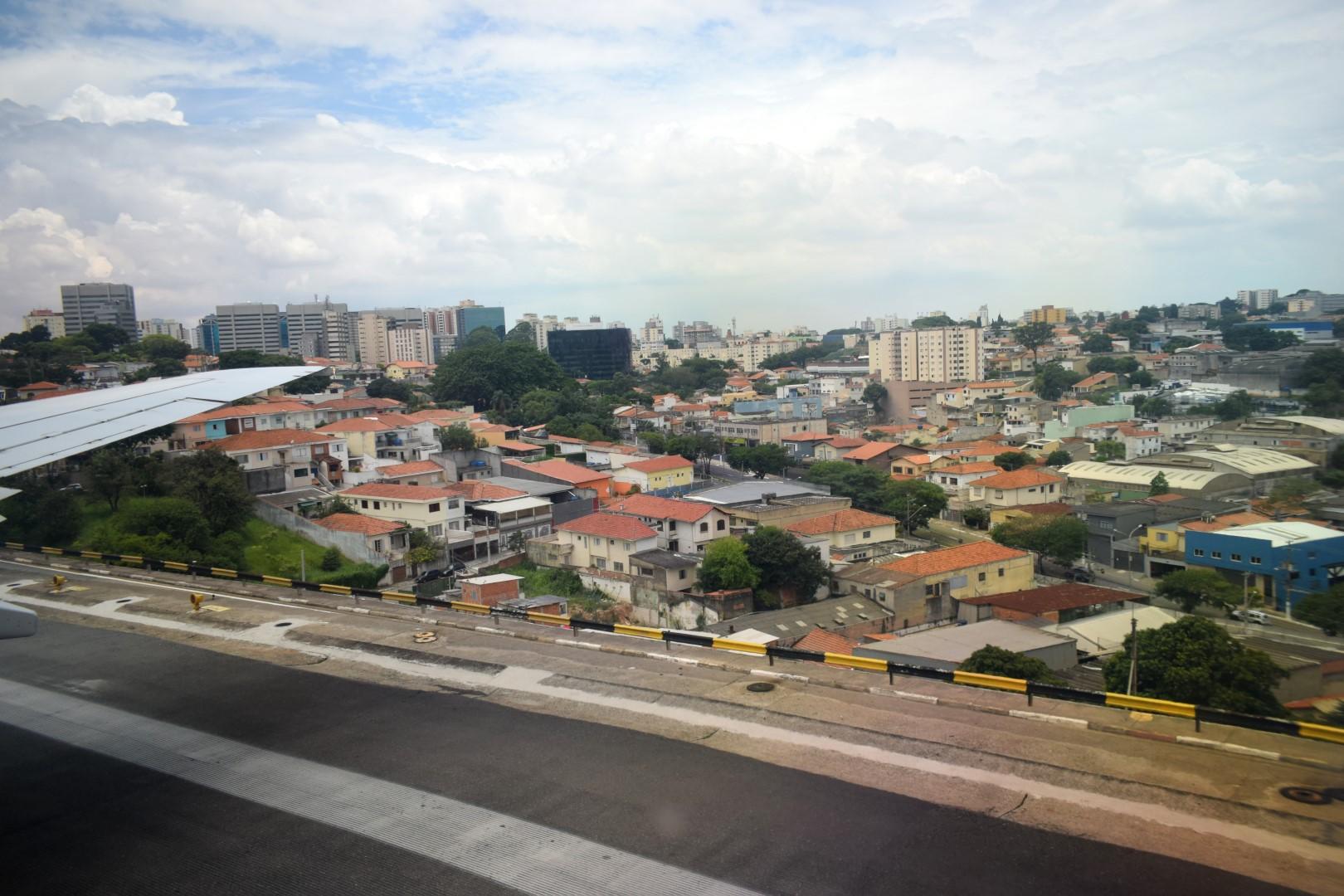 Taking off in Congonhas Airport, São Paulo
