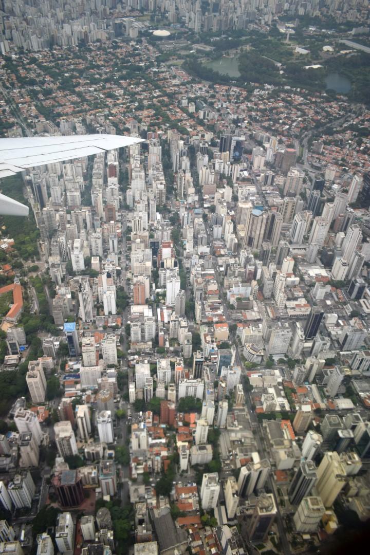 Flying above São Paulo
