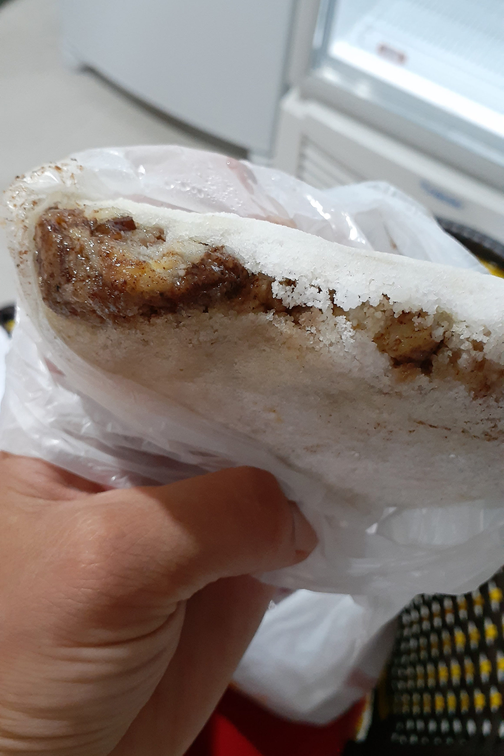 Banana, cinnamon and chocolate tapioca, Maceió
