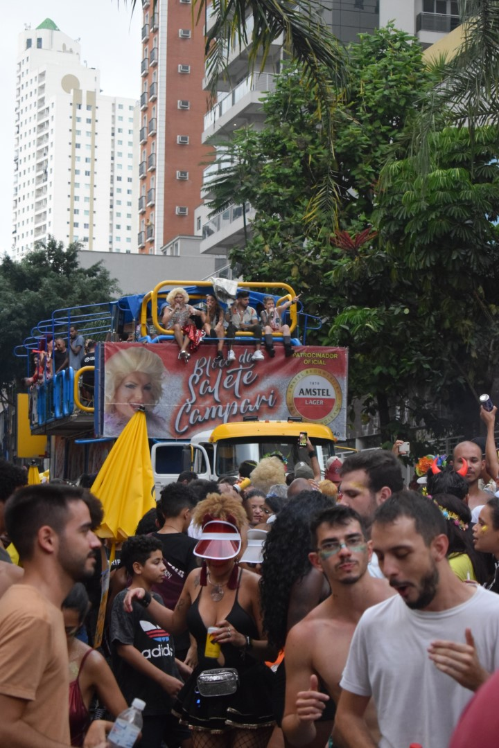 Bloco da Salete Campari, São Paulo rua Augusta,