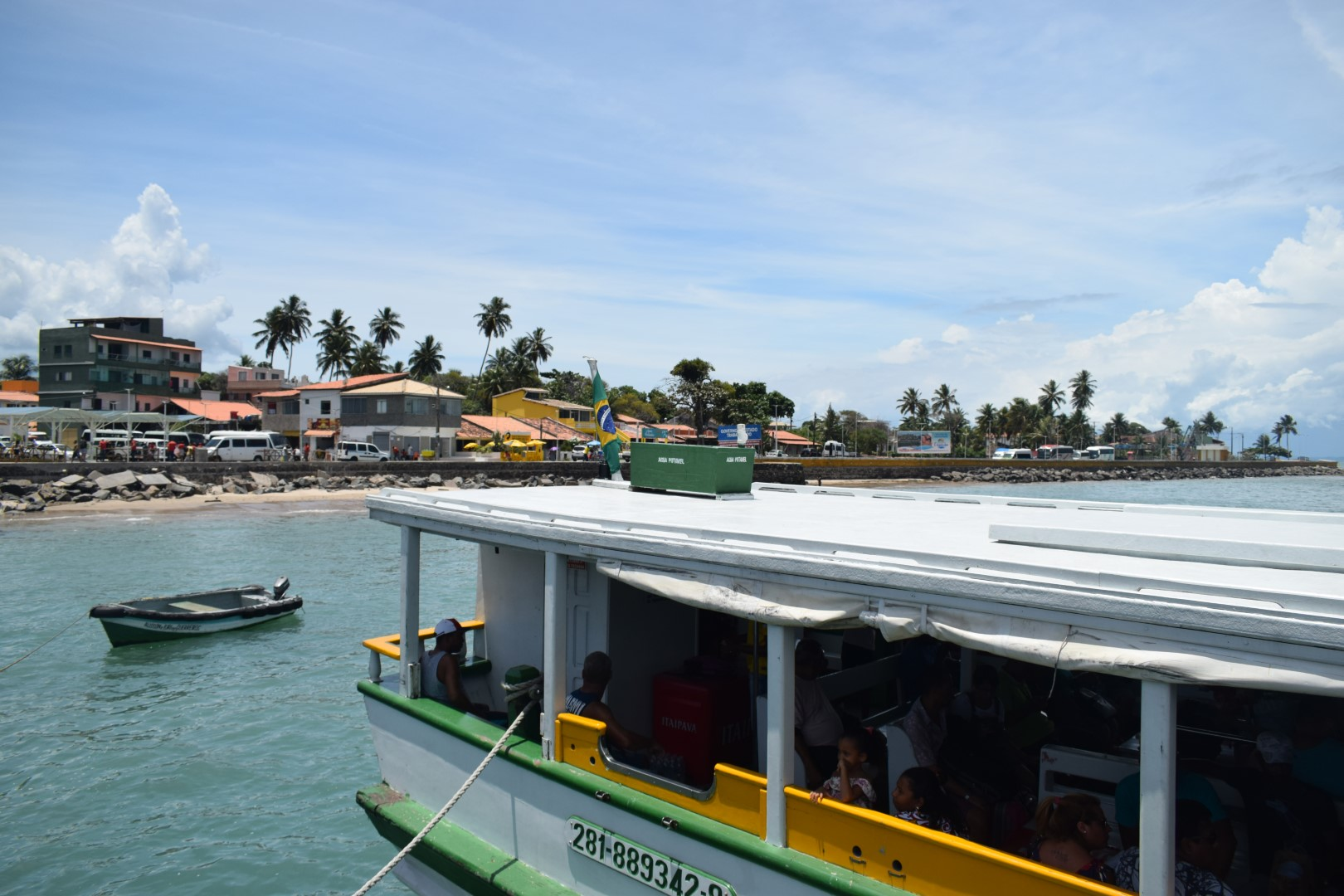 Arriving in Ilha de Itaparica