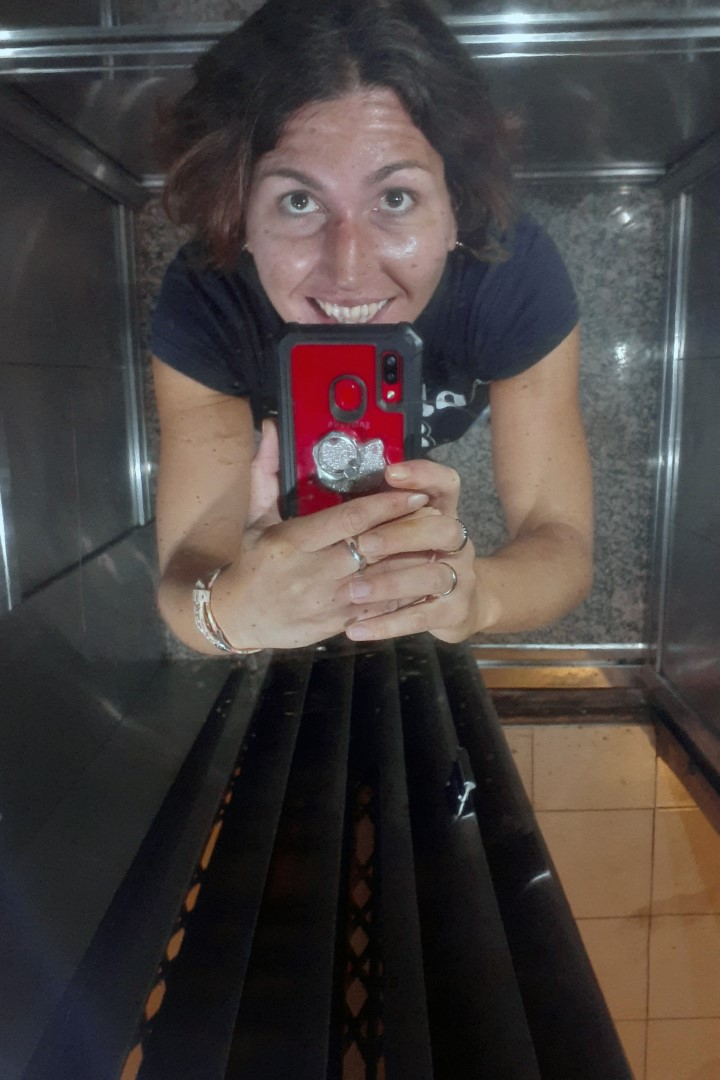 Buenos Aires, Avenida Corrientes... been a while since I've seen an old-fashioned Argentinian elevator
