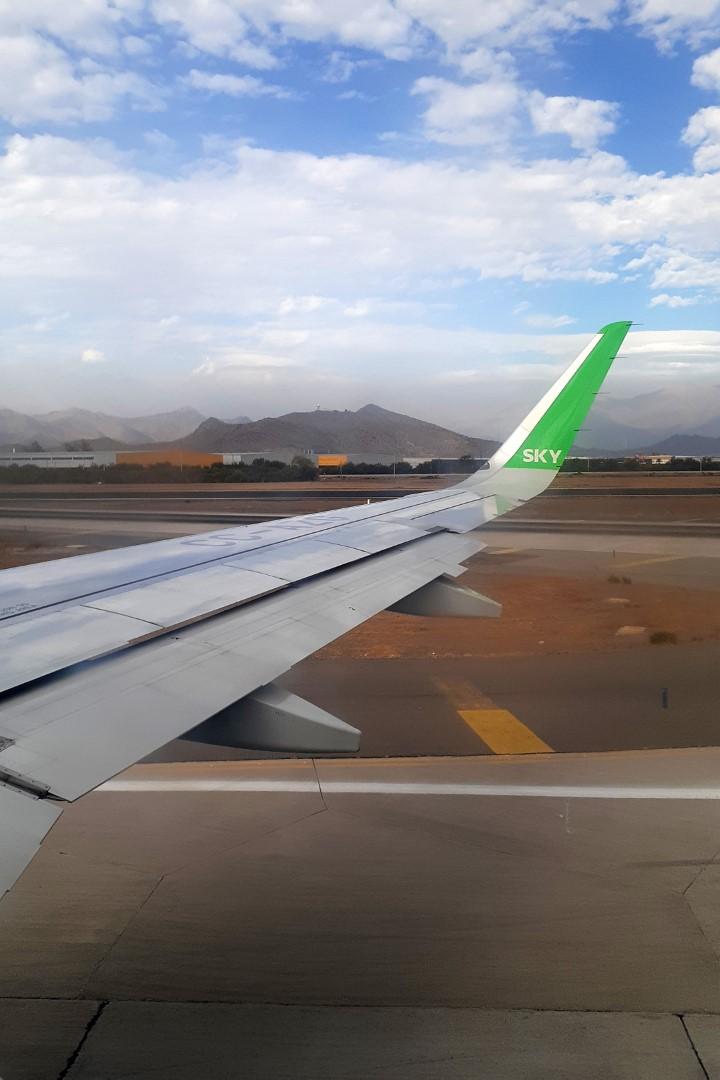 Landing in Santiago, Chile