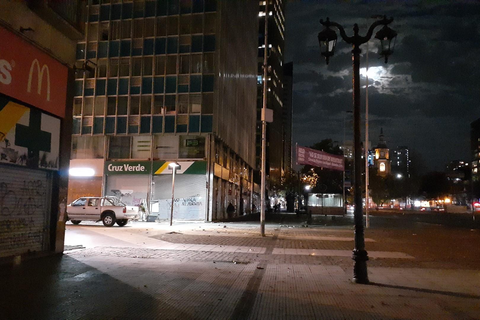 La Alameda, Santiago's main avenue, right after the protests