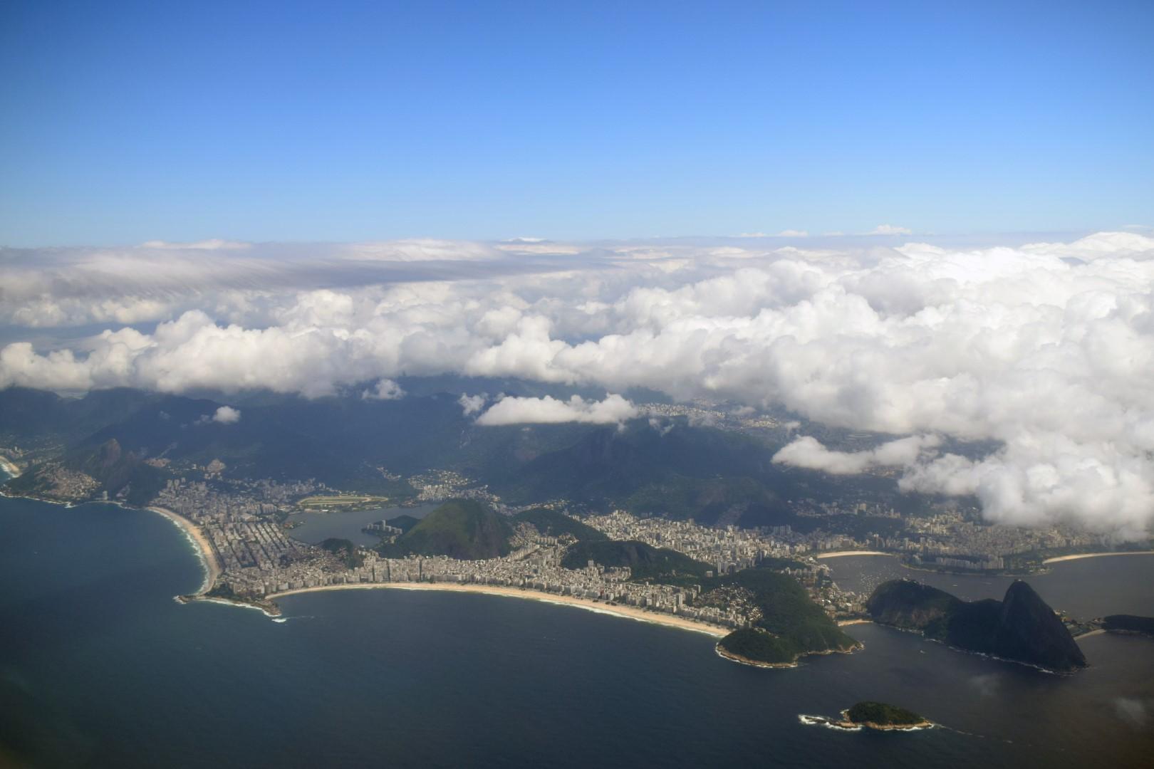 Rio from above, flight Rio de Janeiro to Campinas