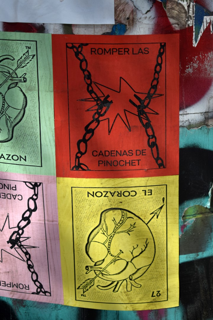 """Break the locks of Pinochet"", Providencia, Santiago"