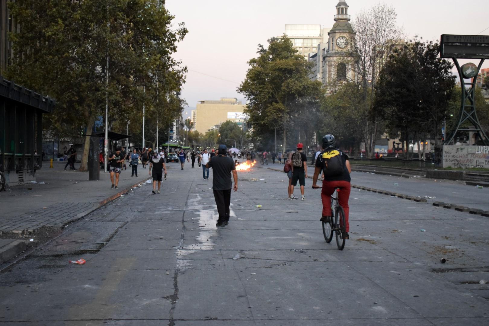 La Alameda, protests on March 14, 2020