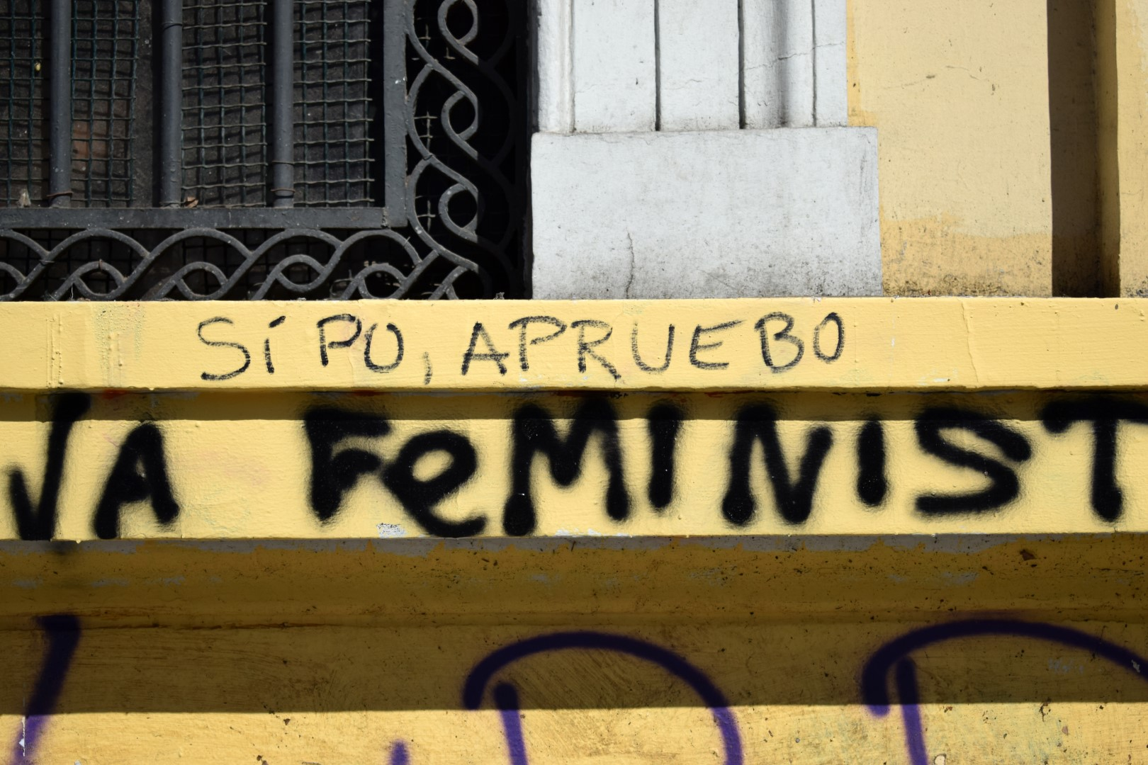 """Yep, I approve"" (a new constitution), La Alameda, Santiago"