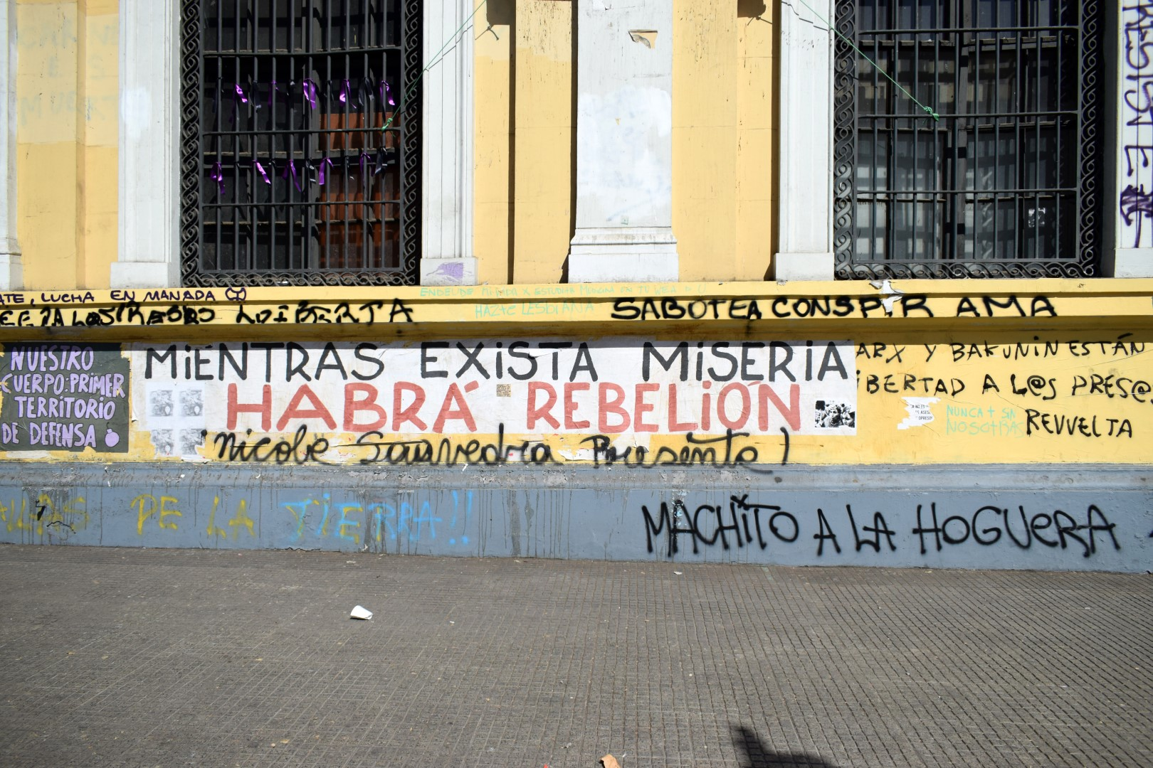 """As long as there will be poverty there will be rebellions"", Le Alameda, Santiago"
