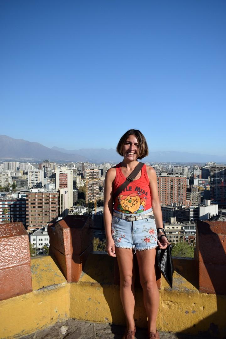 Last picture in Santiago, top of Santa Lucía