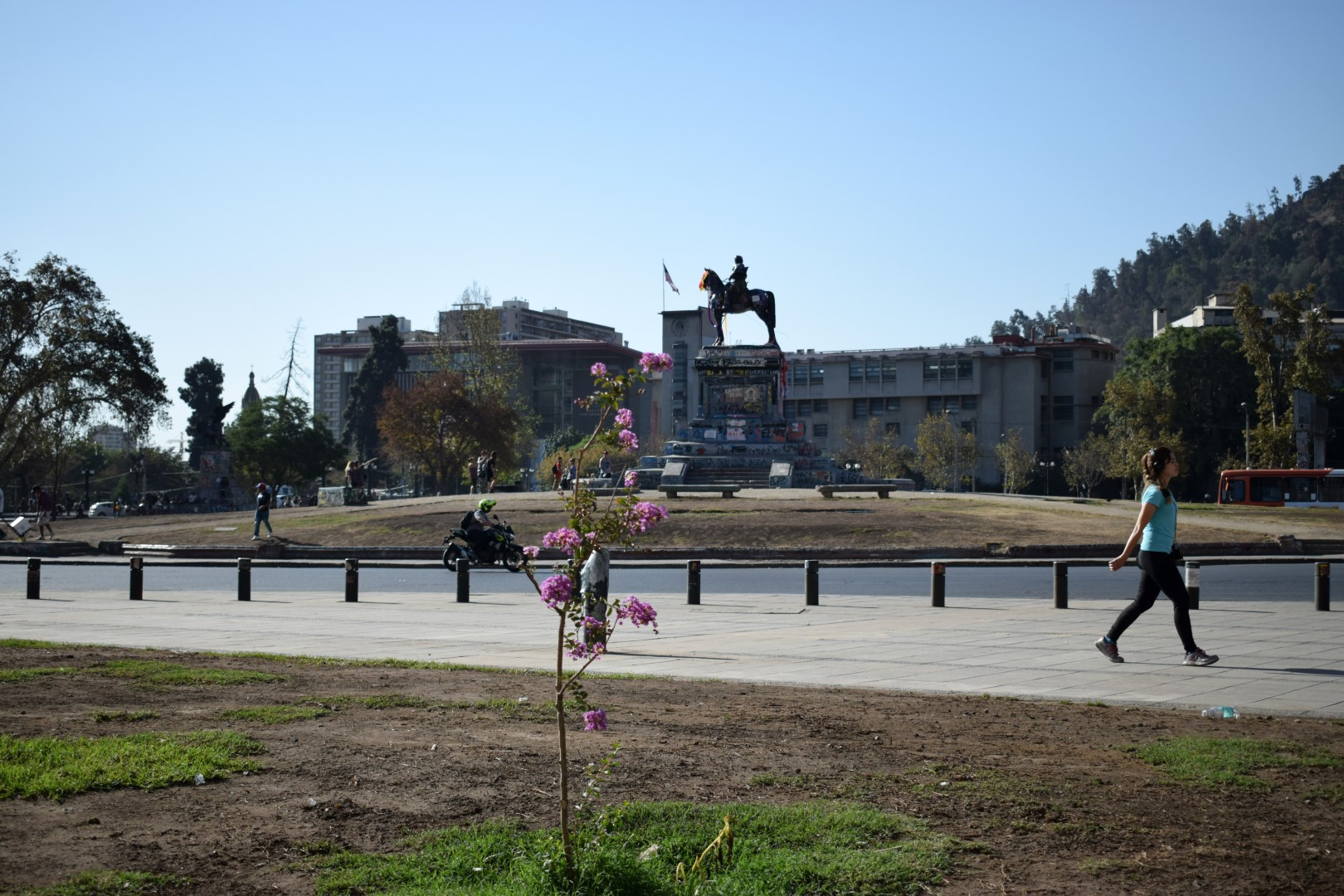 """Plaza Italia, """"Plaza de la Dignidad"""", on a quiet day without protests, Santiago"""