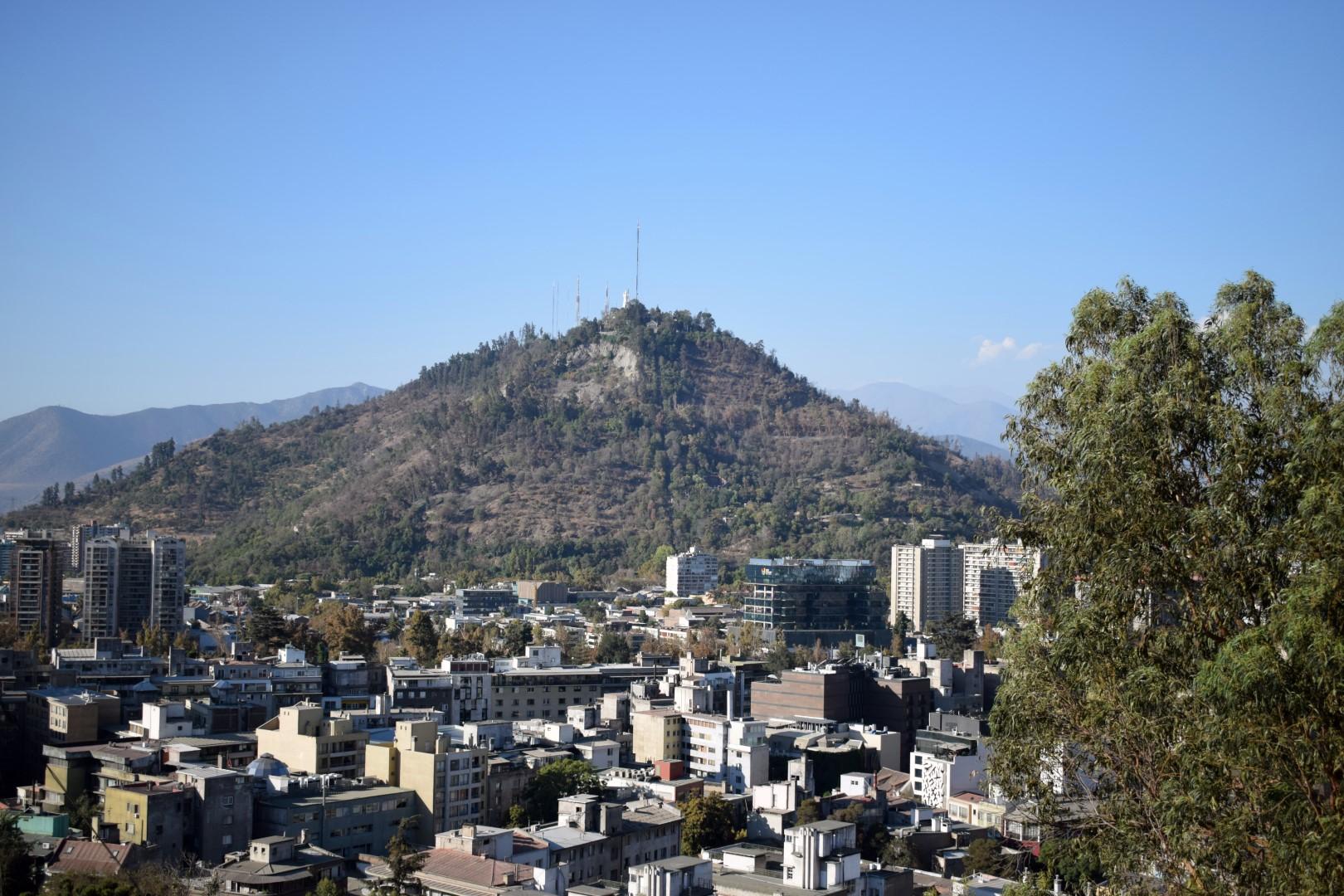 Santiago from the top of Cerro Santa Lucía