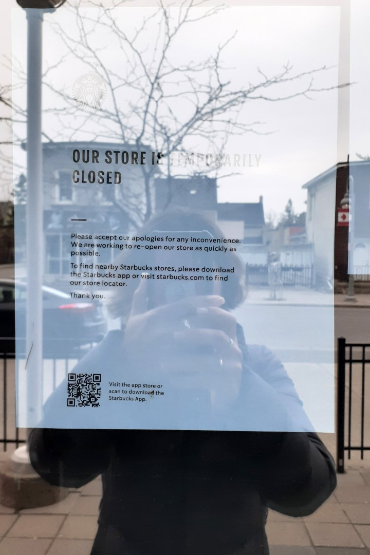 Starbucks, Preston Street, Ottawa, April 2020