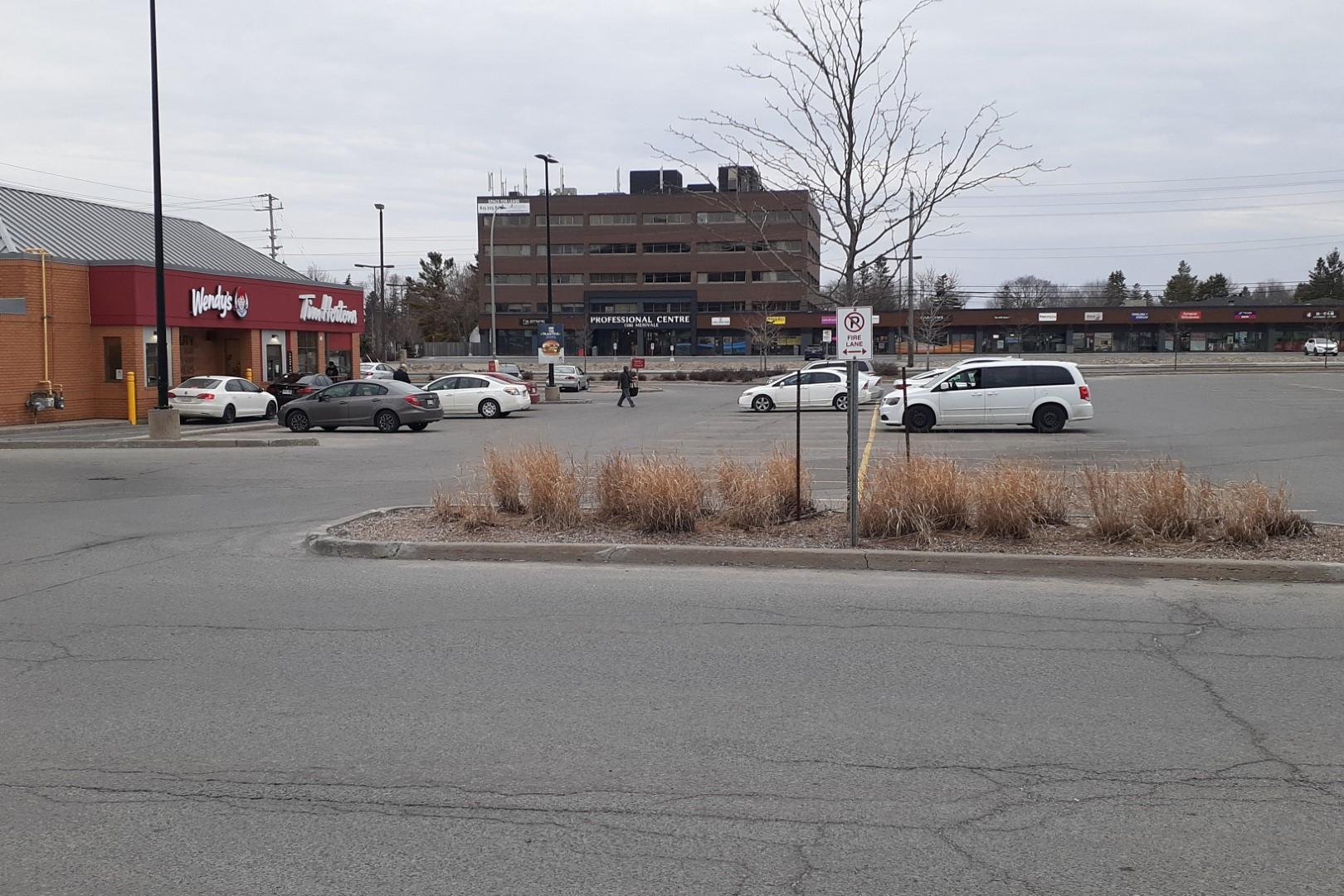 Tim Hortons drive-through, Merivale Road, Ottawa, April 2020