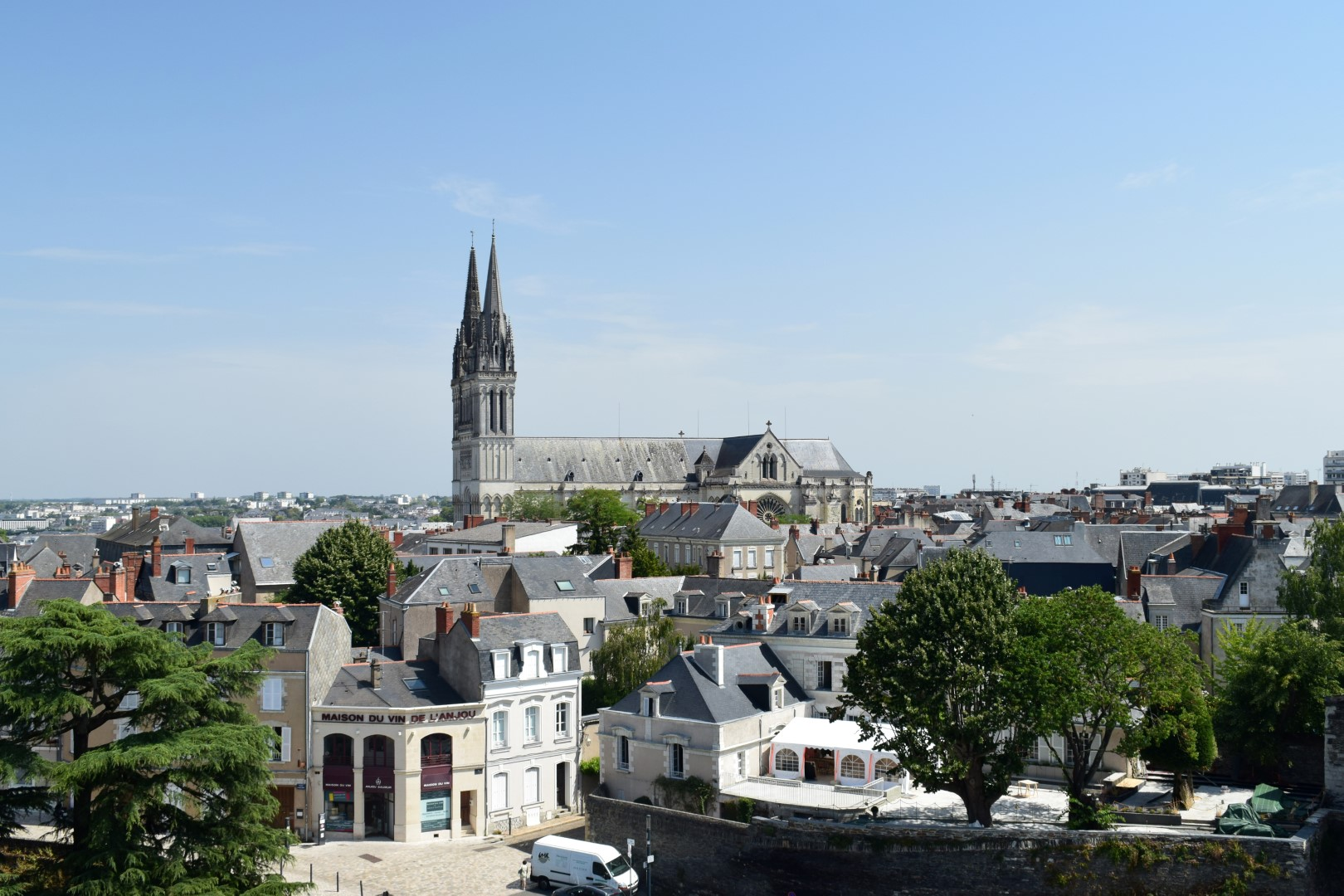 Angers from the castle's ramparts