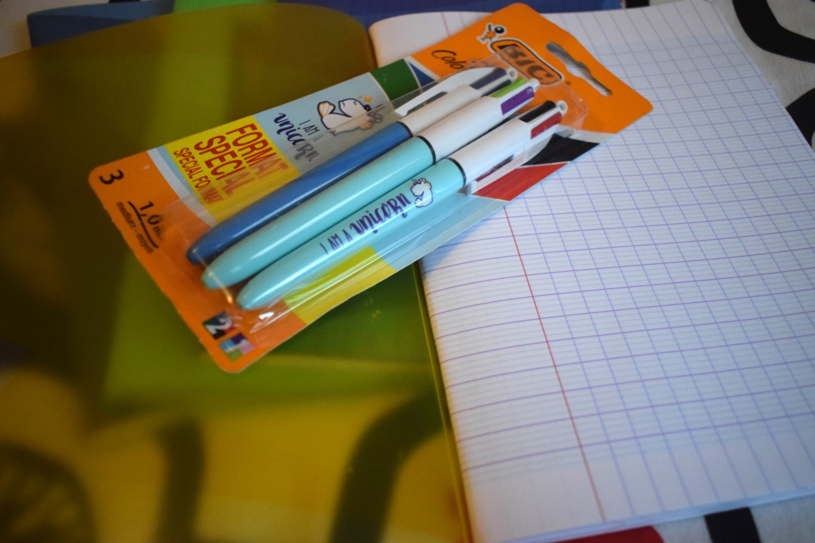 Classic French notebooks and pens