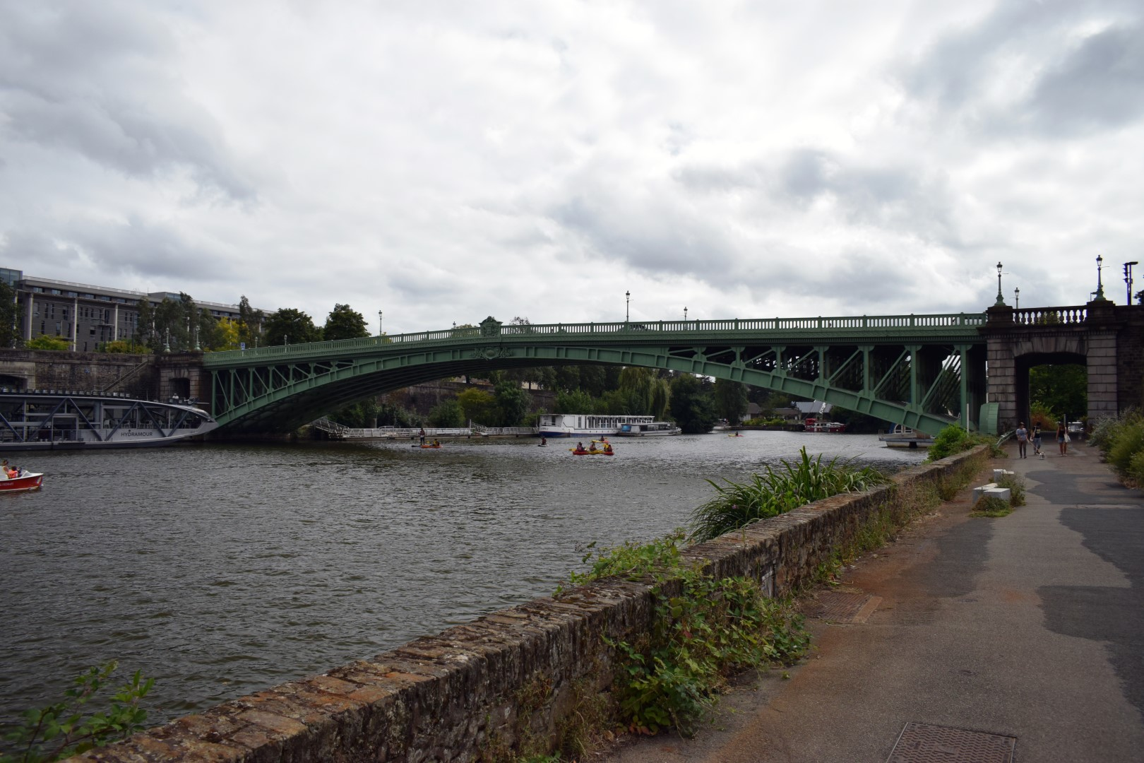Along the Erdre River, Nantes, July 2020