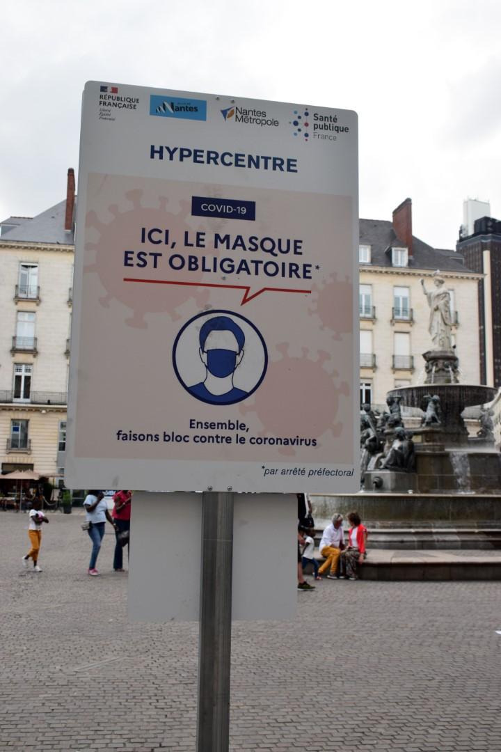 Place Royale, Nantes, August 2020