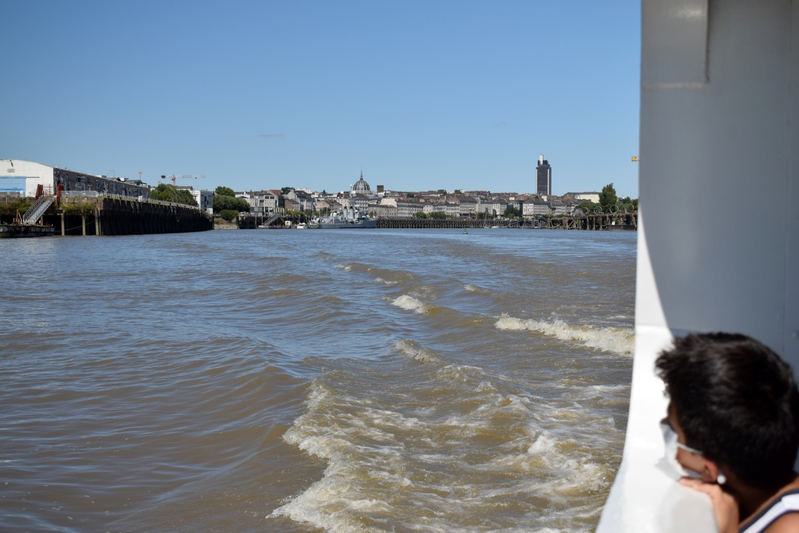 The Navibus crossing the Loire River, Nantes, July 2020